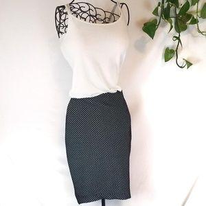 e9537bc916 H&M Skirts | Hm Black White Polka Dot Knee Length Skirt | Poshmark